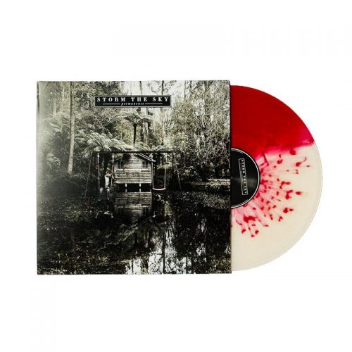 Half Red/Half White with Red Splatter