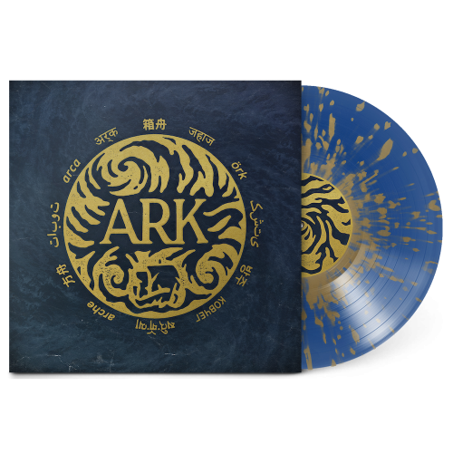 Blue with Gold Splatter