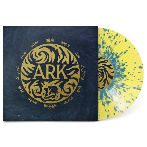 Yellow with Blue Splatter