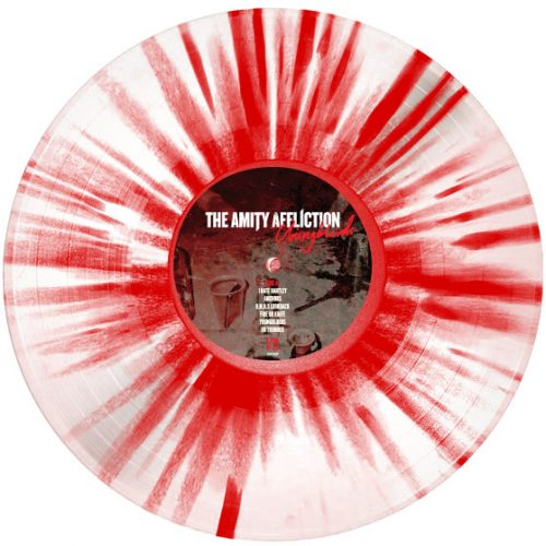 Clear with Red Splatter